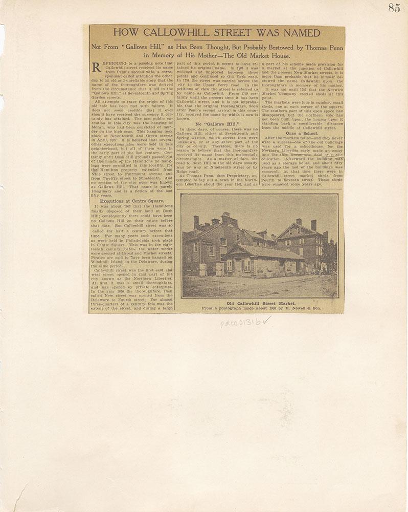 Castner Scrapbook v.12, Streets 1, page 85