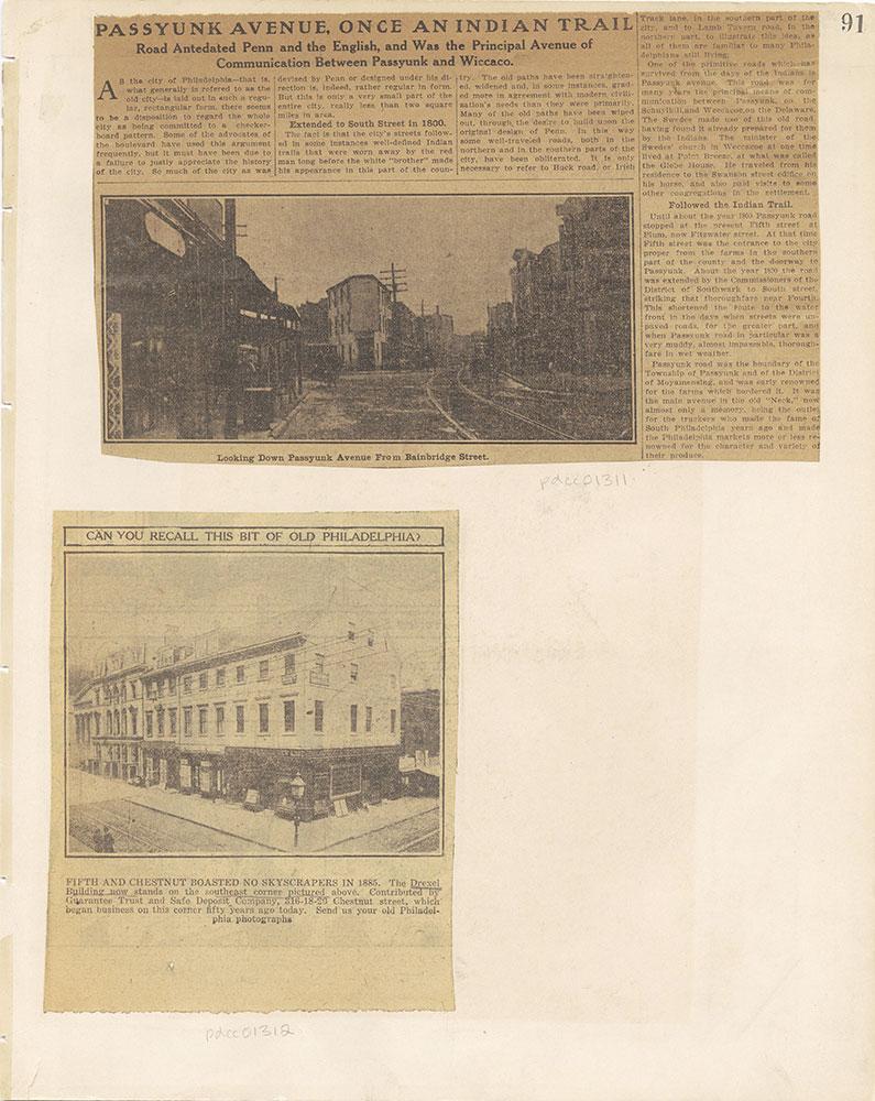 Castner Scrapbook v.12, Streets 1, page 91