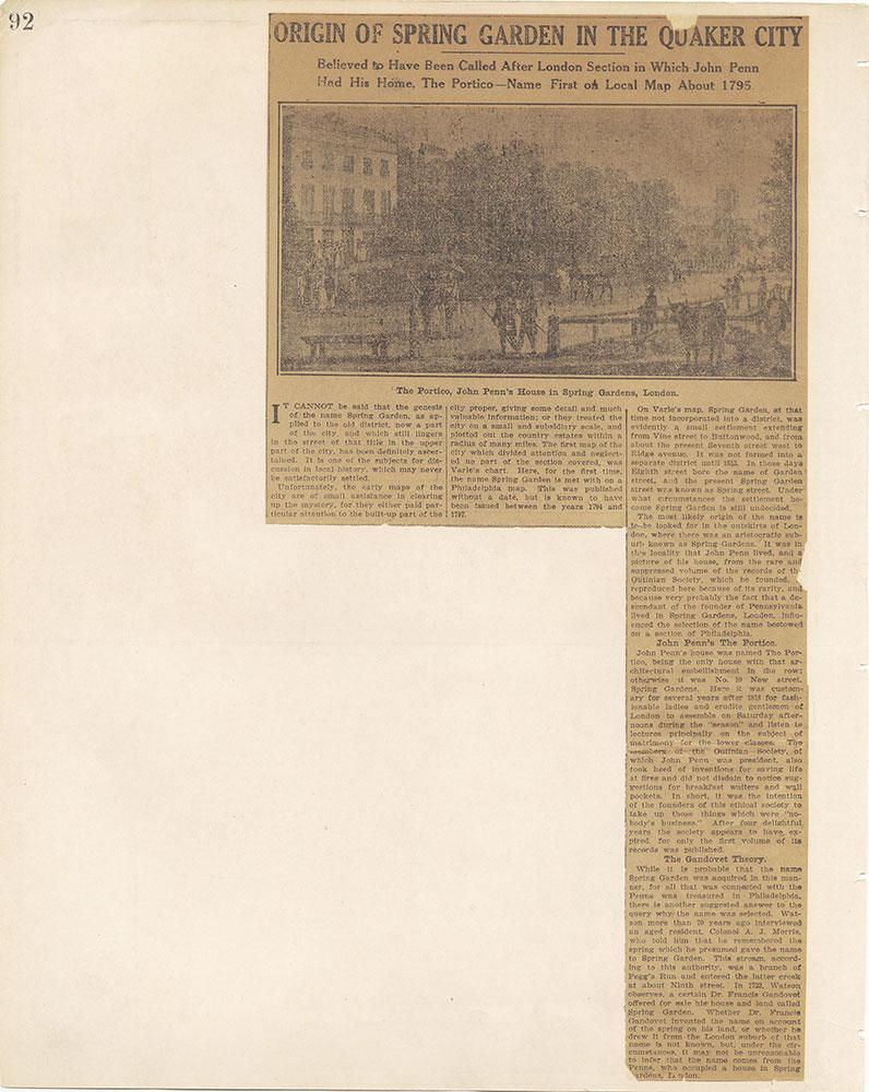 Castner Scrapbook v.12, Streets 1, page 92