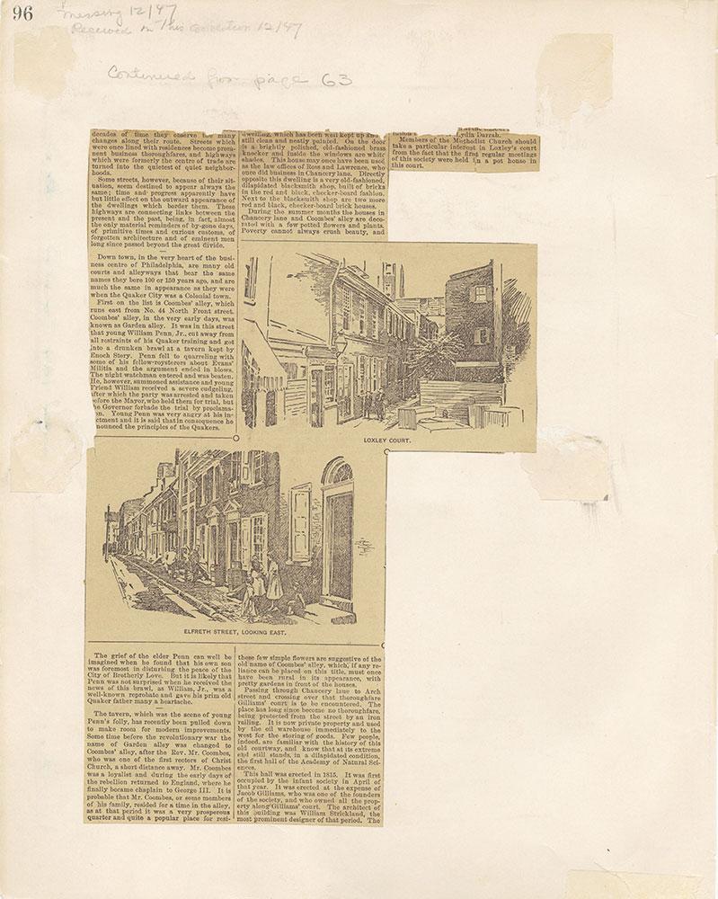 Castner Scrapbook v.12, Streets 1, page 96
