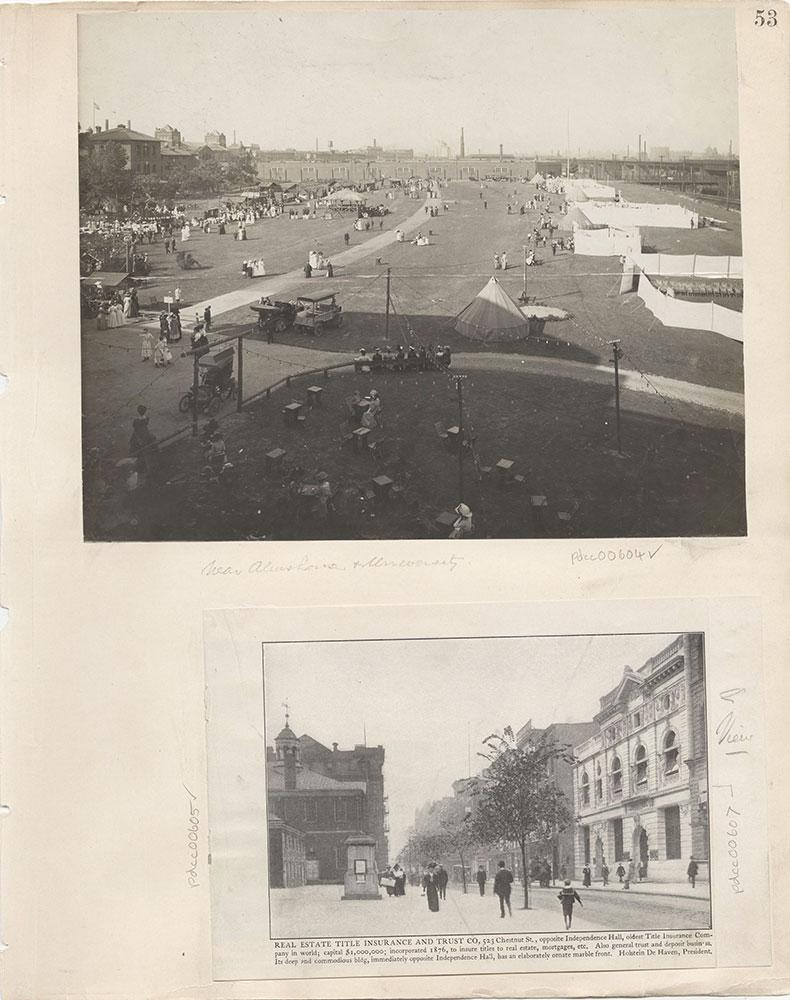 Castner Scrapbook v.7, Walks, Views, Maps, page 53