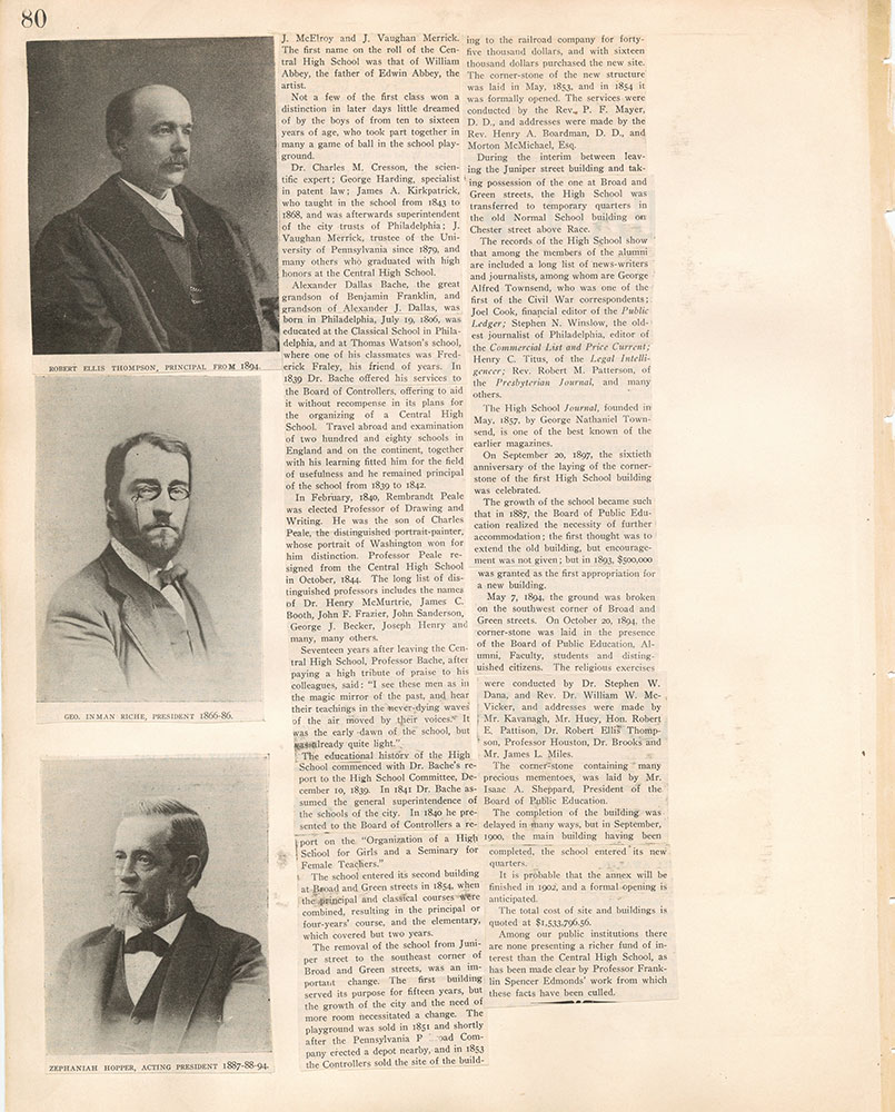 Castner Scrapbook v.17, Education 1, page 80