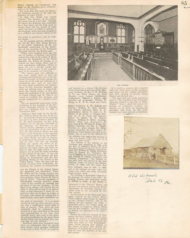 Castner Scrapbook v.17, Education 1, page 85