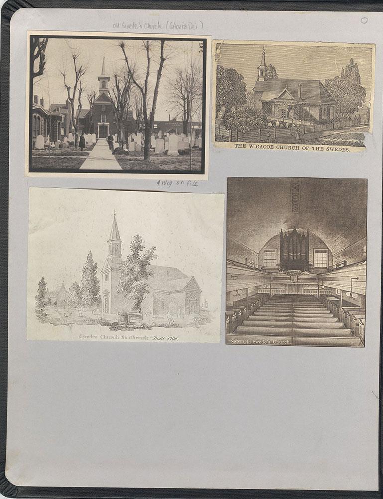 Castner Scrapbook v.22, Churches 1, inside front cover