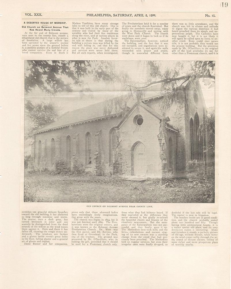 Castner Scrapbook v.22, Churches 1, page 19