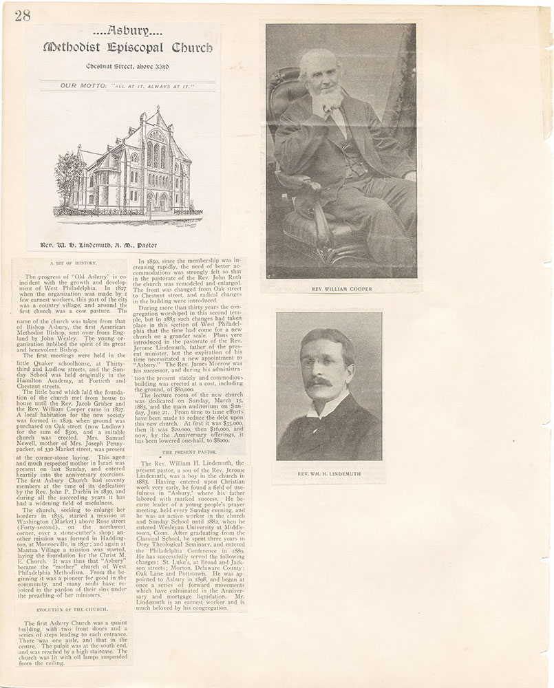 Castner Scrapbook v.22, Churches 1, page 28
