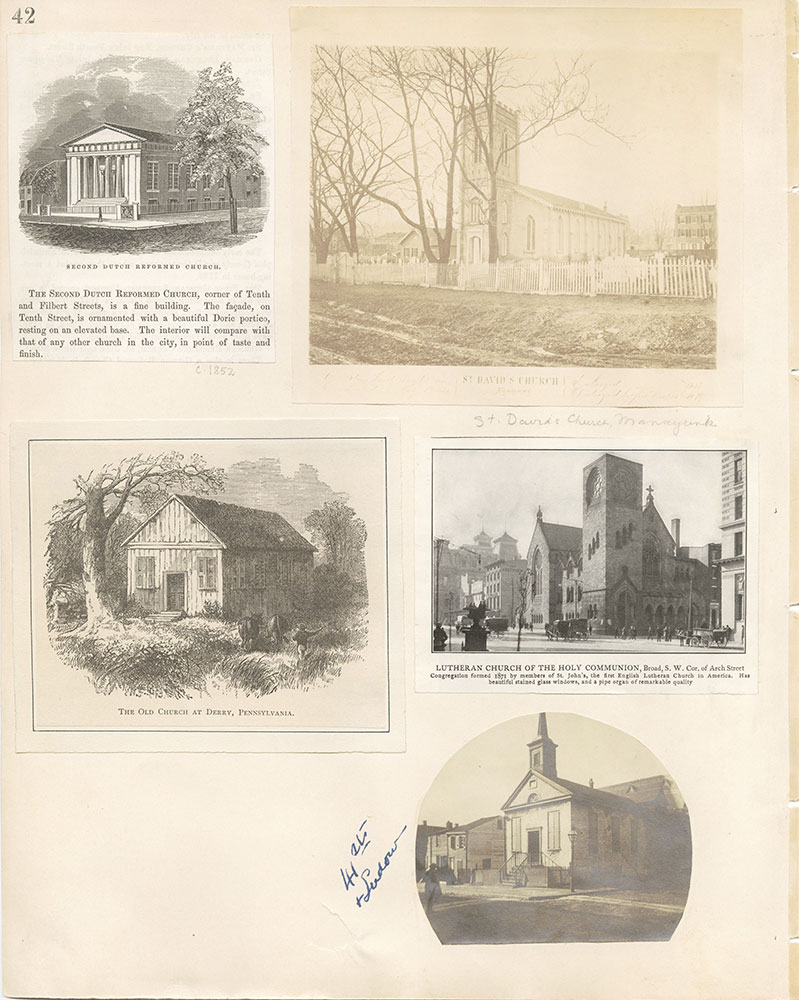 Castner Scrapbook v.22, Churches 1, page 42