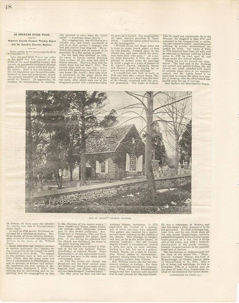Castner Scrapbook v.22, Churches 1, page 48
