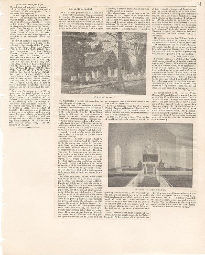 Castner Scrapbook v.22, Churches 1, page 49