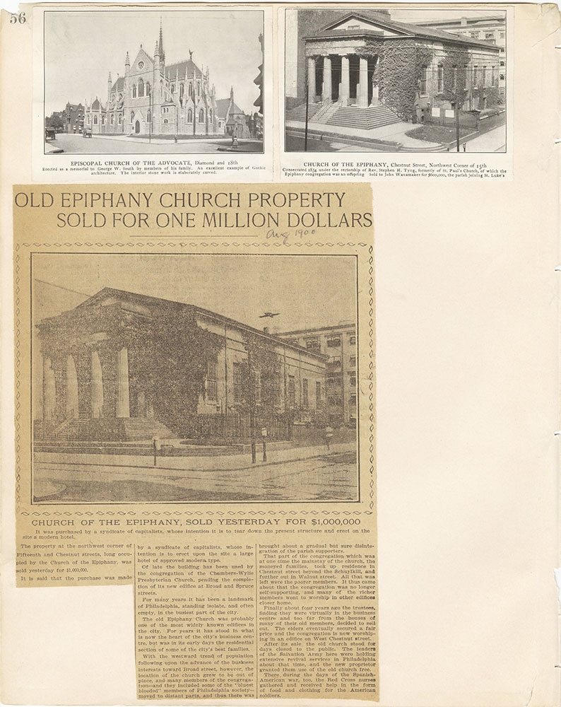 Castner Scrapbook v.22, Churches 1, page 56