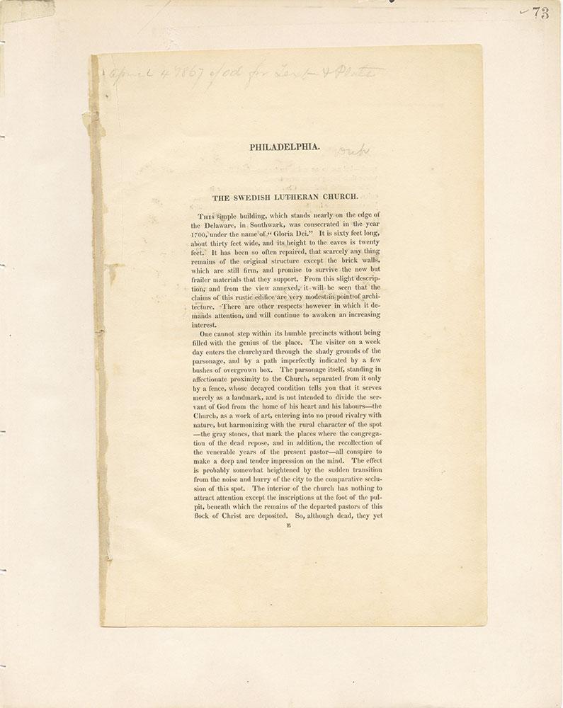 Castner Scrapbook v.22, Churches 1, page 73