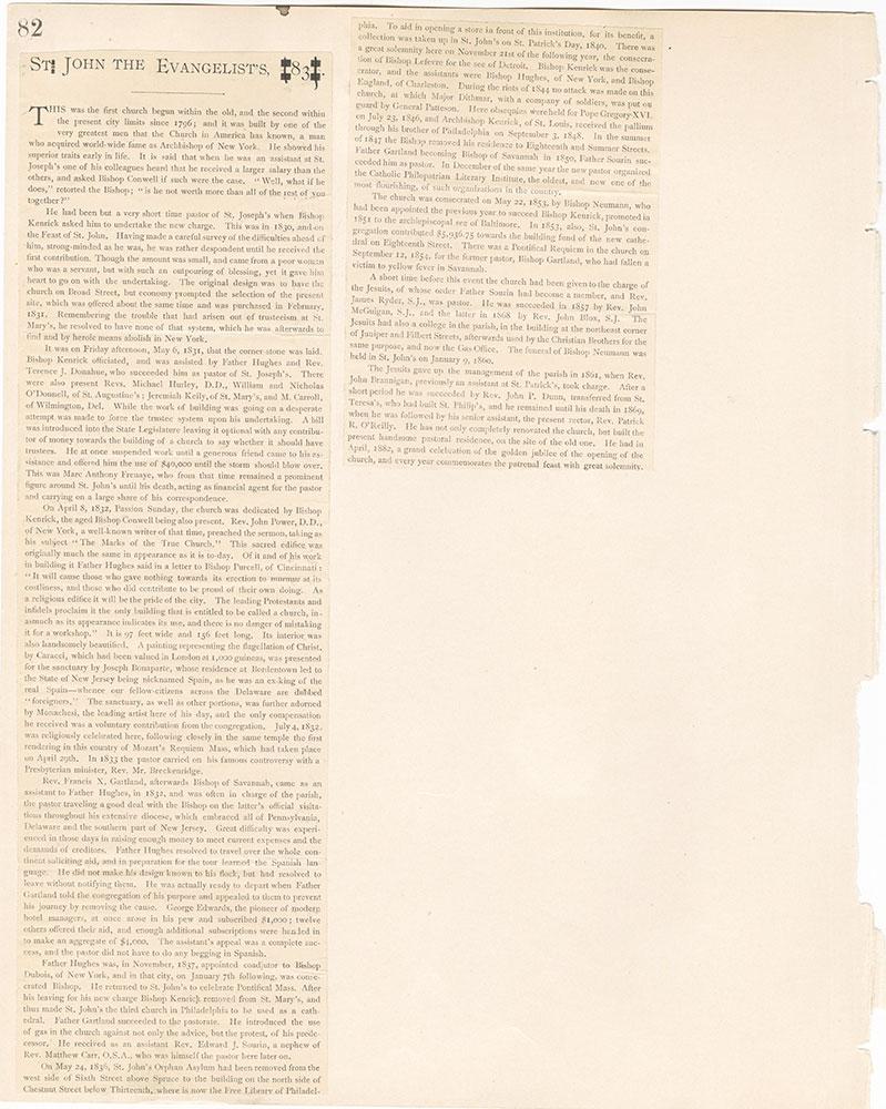 Castner Scrapbook v.22, Churches 1, page 82