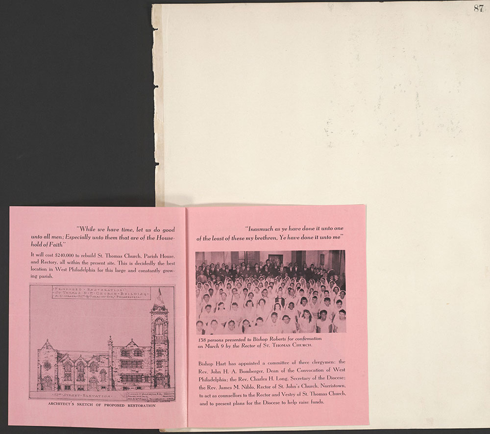 Castner Scrapbook v.22, Churches 1, page 87