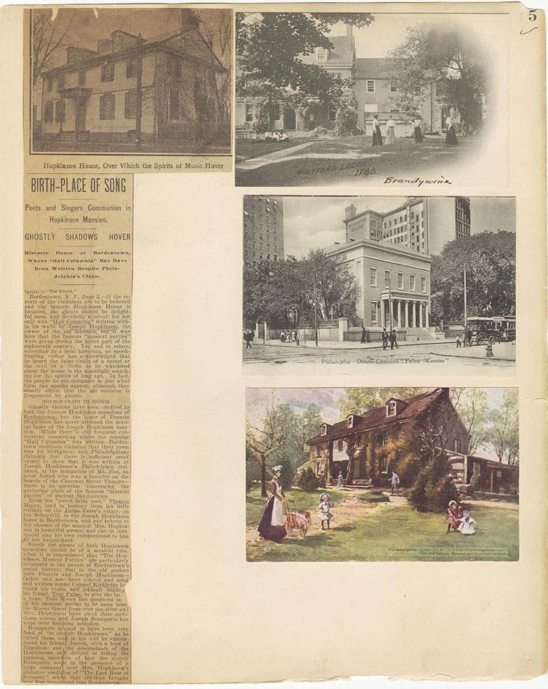 Castner Scrapbook v.27, Old Houses 4, page 5