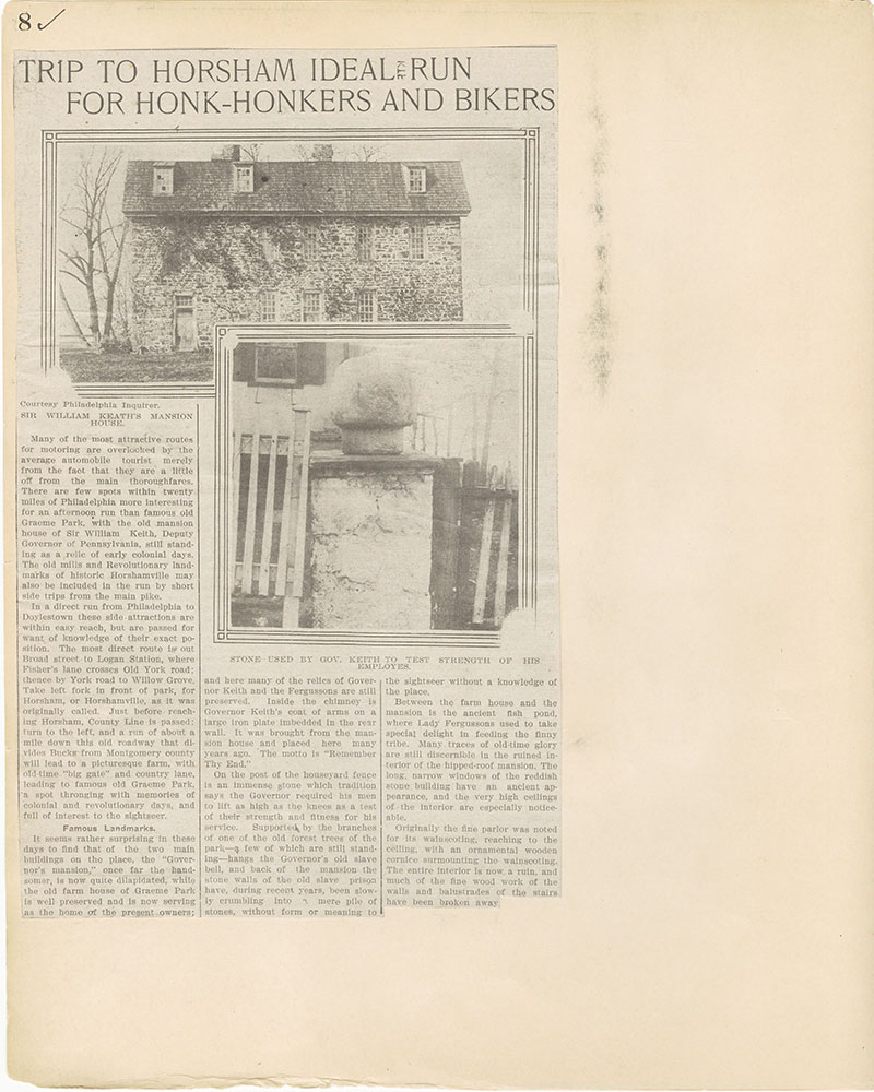 Castner Scrapbook v.27, Old Houses 4, page 8