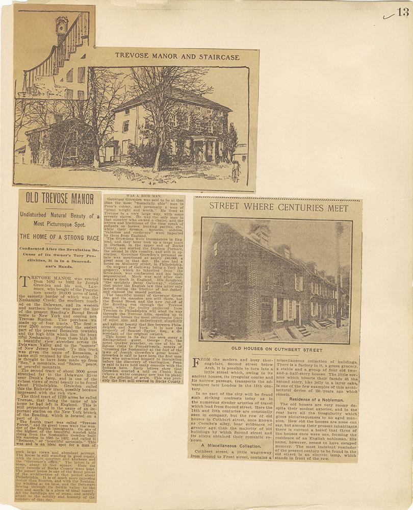 Castner Scrapbook v.27, Old Houses 4, page 13