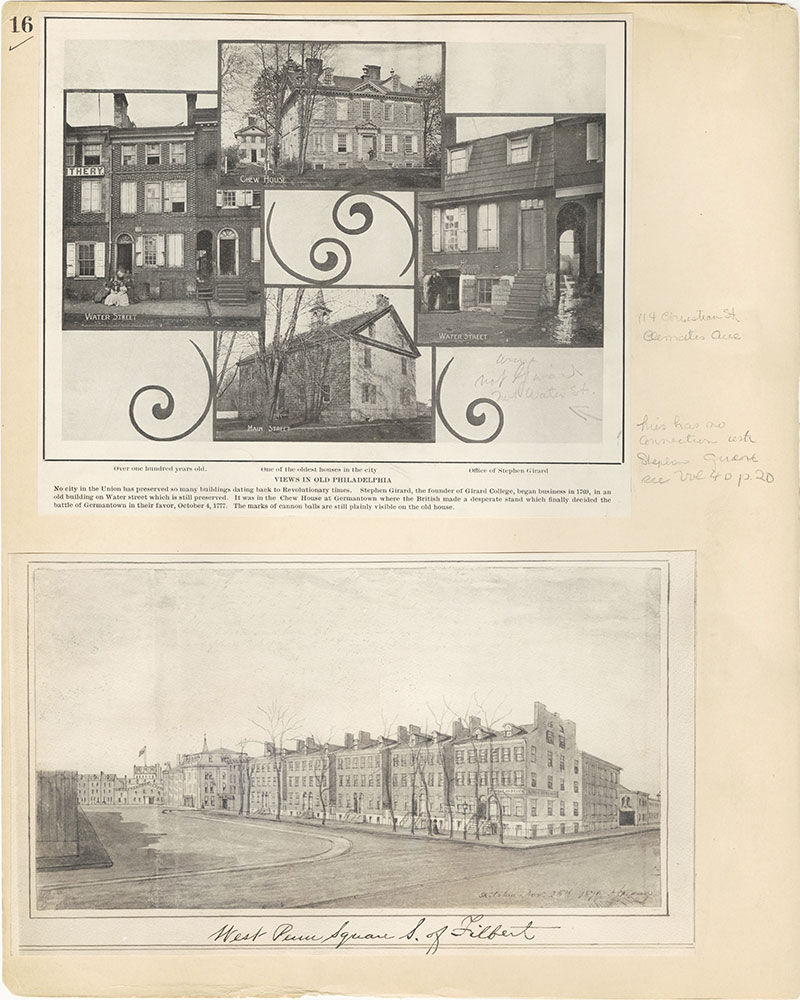 Castner Scrapbook v.27, Old Houses 4, page 16