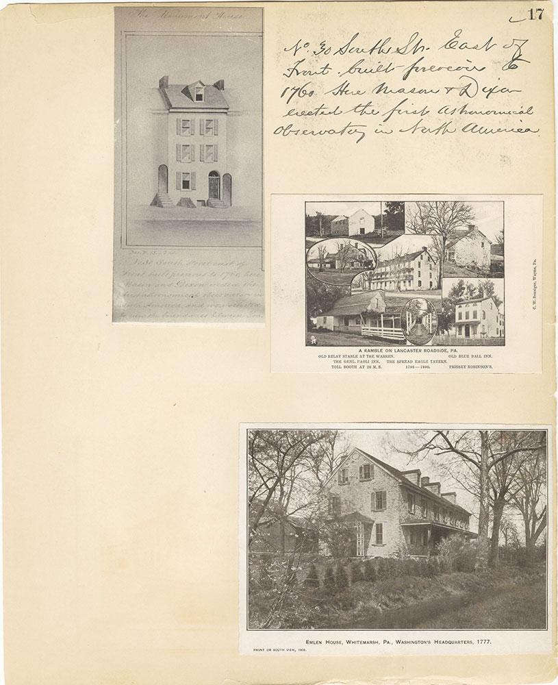 Castner Scrapbook v.27, Old Houses 4, page 17