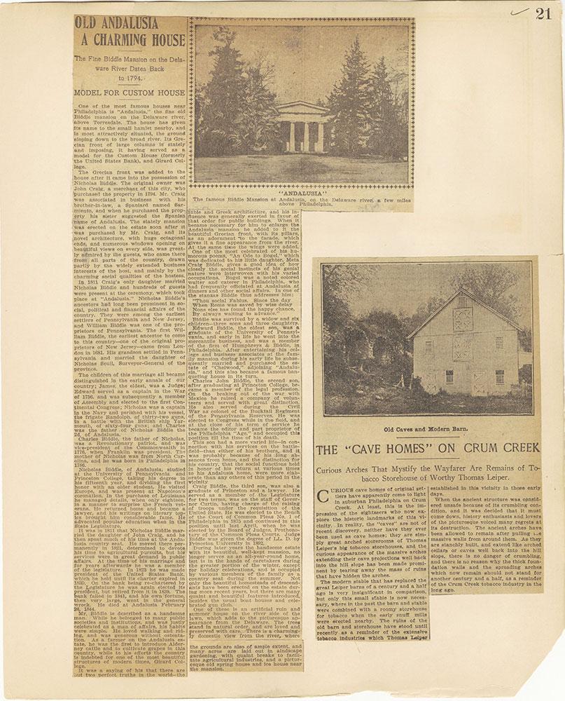 Castner Scrapbook v.27, Old Houses 4, page 21