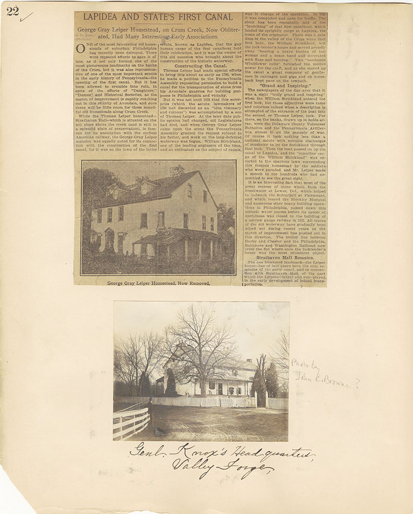 Castner Scrapbook v.27, Old Houses 4, page 22