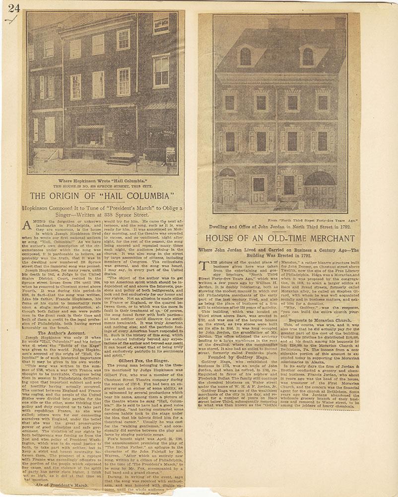 Castner Scrapbook v.27, Old Houses 4, page 24