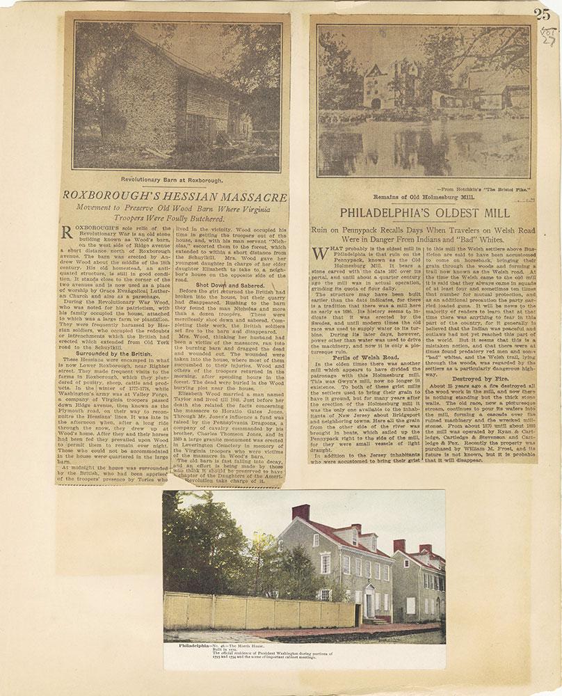 Castner Scrapbook v.27, Old Houses 4, page 25