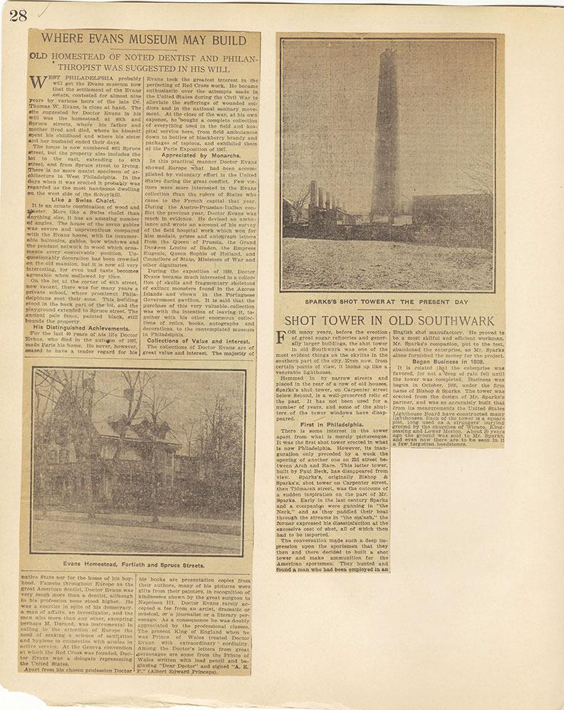 Castner Scrapbook v.27, Old Houses 4, page 28