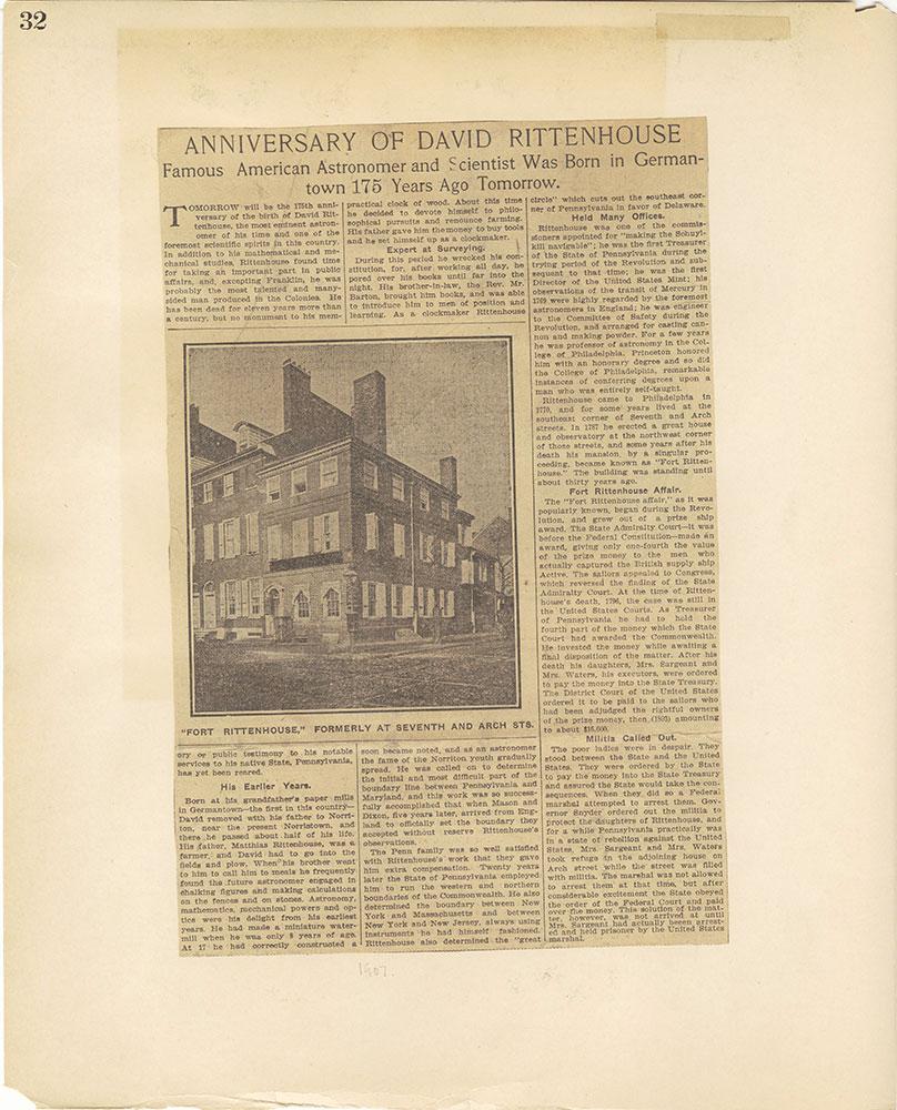 Castner Scrapbook v.27, Old Houses 4, page 32