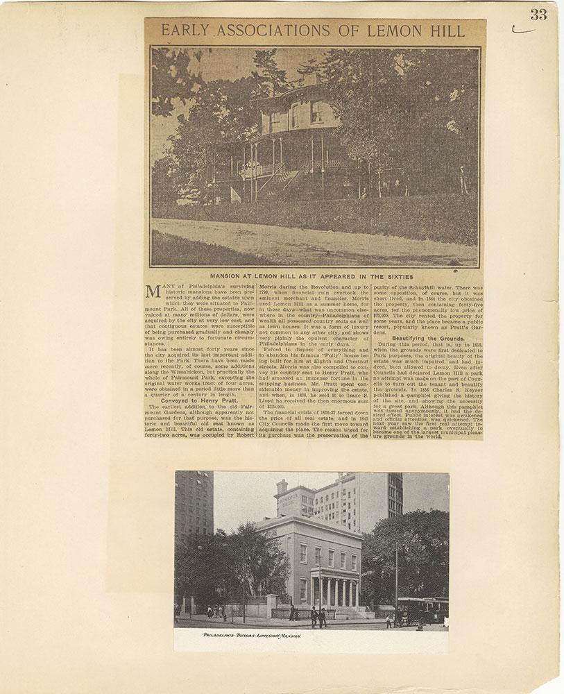 Castner Scrapbook v.27, Old Houses 4, page 33