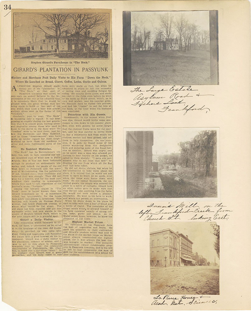 Castner Scrapbook v.27, Old Houses 4, page 34