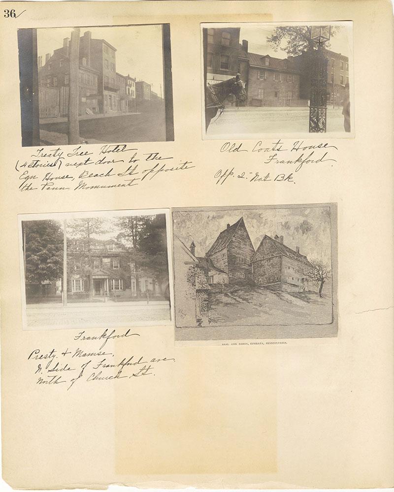 Castner Scrapbook v.27, Old Houses 4, page 36