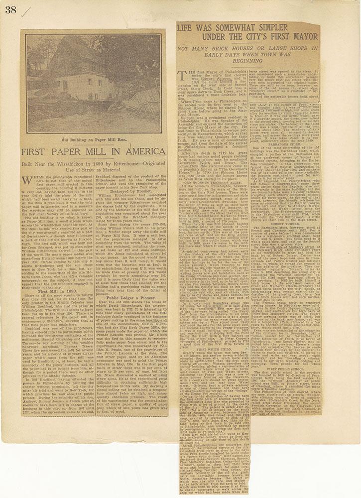 Castner Scrapbook v.27, Old Houses 4, page 38