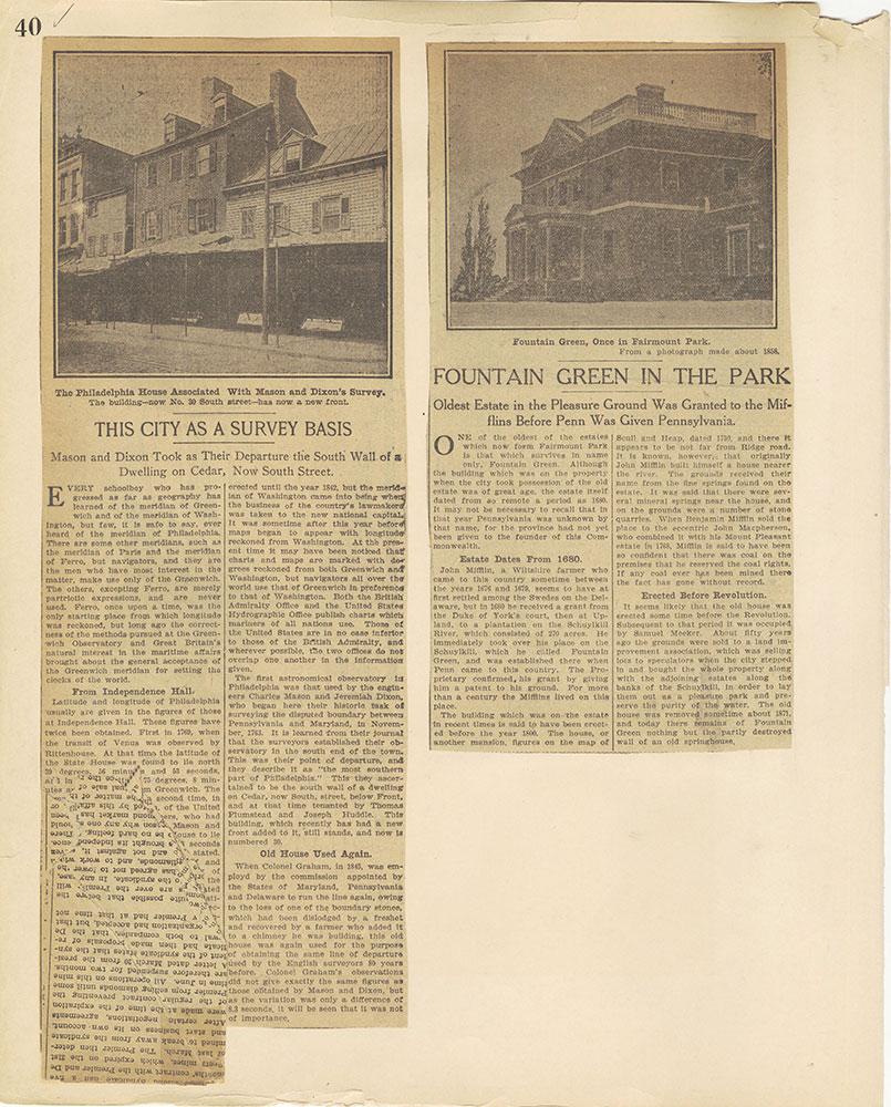 Castner Scrapbook v.27, Old Houses 4, page 40