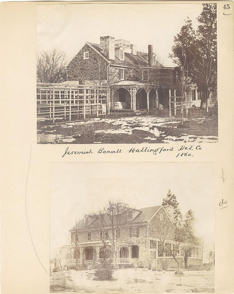 Castner Scrapbook v.27, Old Houses 4, page 45