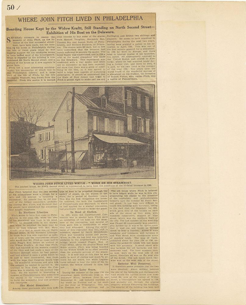 Castner Scrapbook v.27, Old Houses 4, page 50