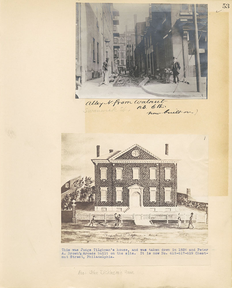 Castner Scrapbook v.27, Old Houses 4, page 53