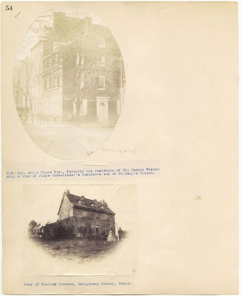 Castner Scrapbook v.27, Old Houses 4, page 54
