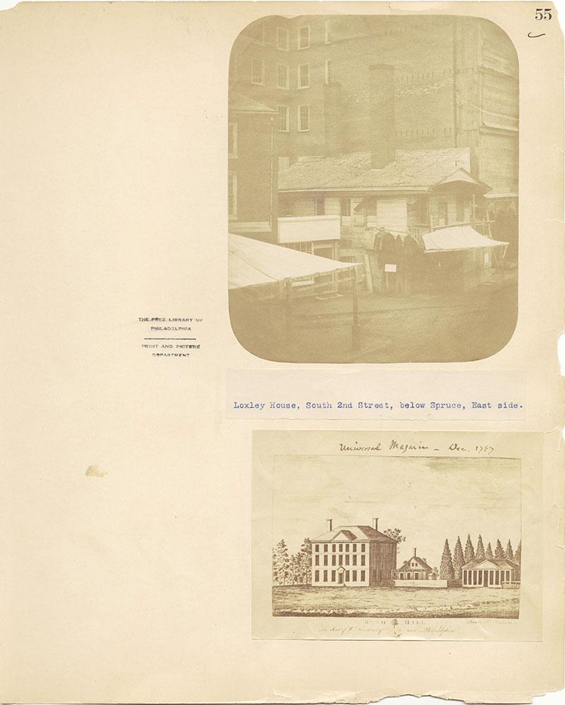 Castner Scrapbook v.27, Old Houses 4, page 55