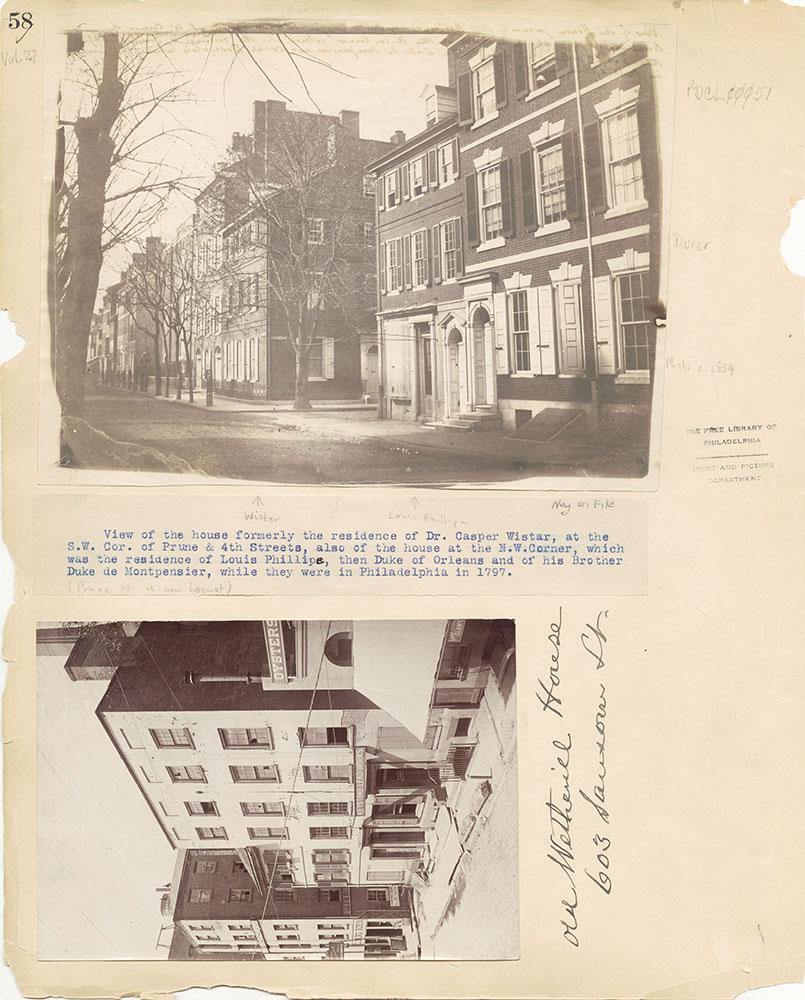 Castner Scrapbook v.27, Old Houses 4, page 58