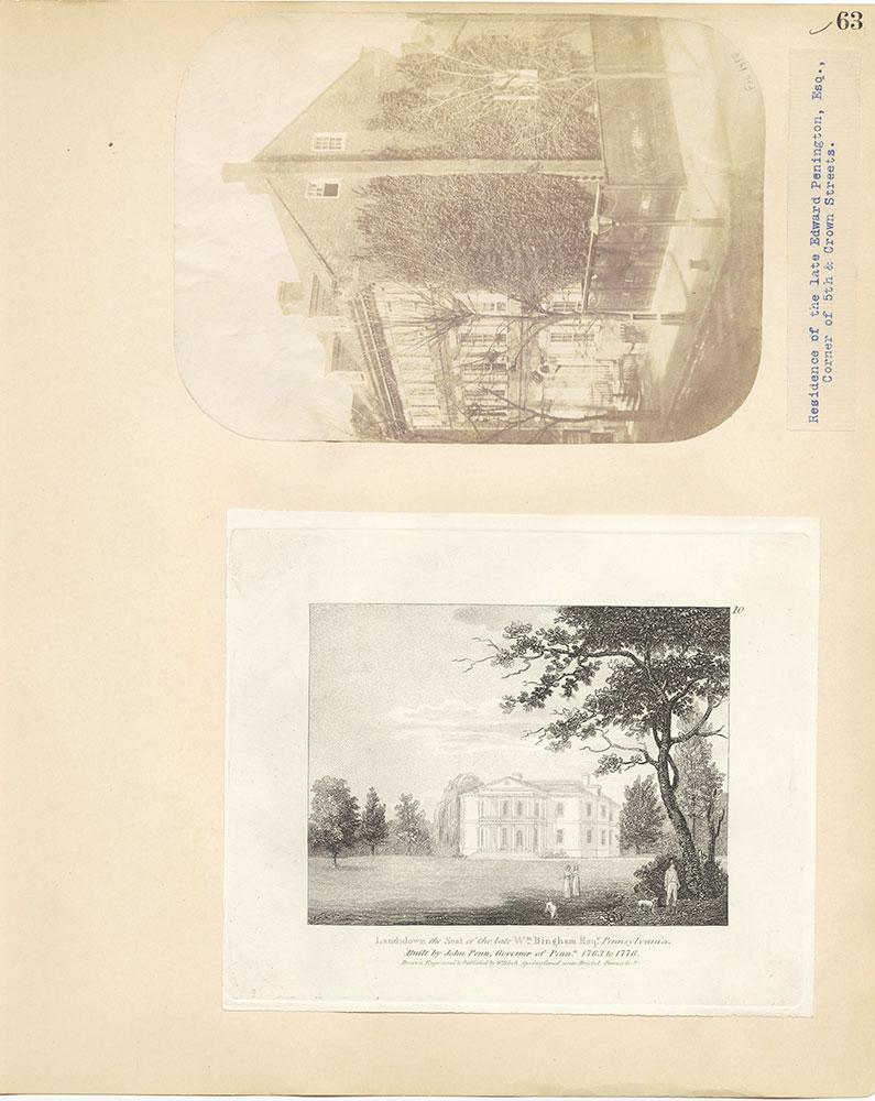 Castner Scrapbook v.27, Old Houses 4, page 63