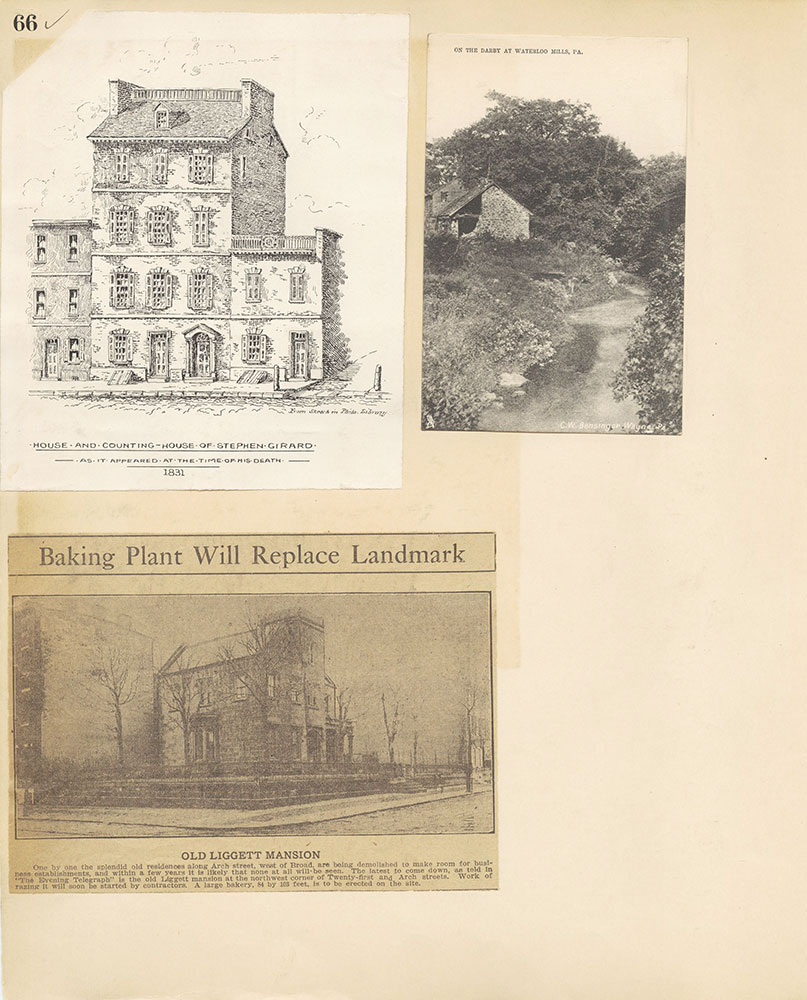 Castner Scrapbook v.27, Old Houses 4, page 66
