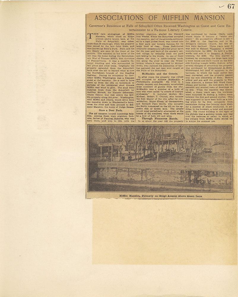 Castner Scrapbook v.27, Old Houses 4, page 67