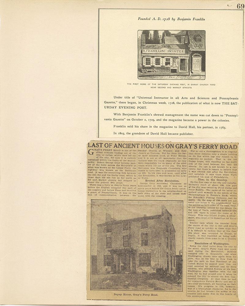 Castner Scrapbook v.27, Old Houses 4, page 69