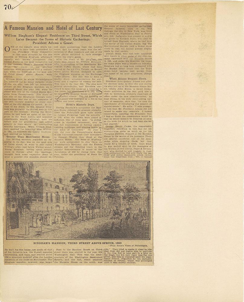 Castner Scrapbook v.27, Old Houses 4, page 70