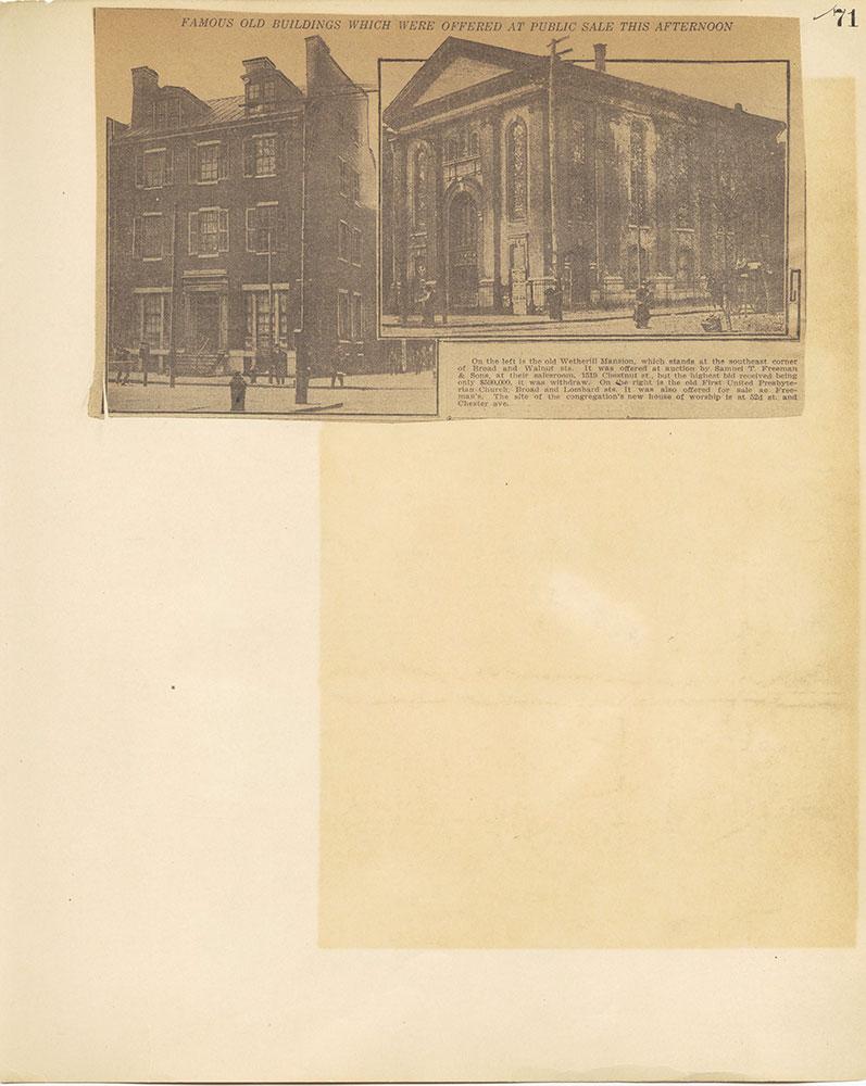 Castner Scrapbook v.27, Old Houses 4, page 71