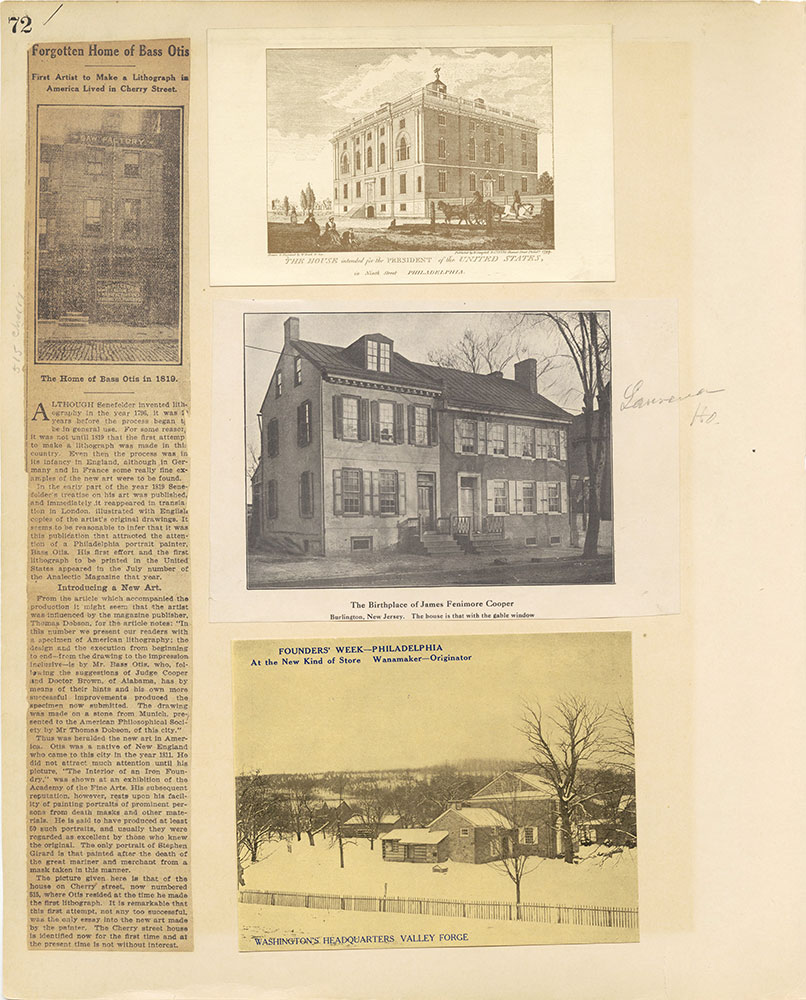 Castner Scrapbook v.27, Old Houses 4, page 72
