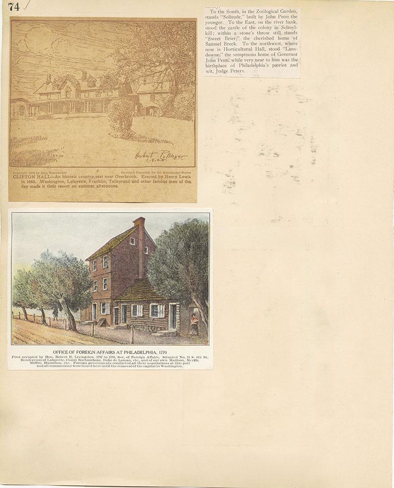 Castner Scrapbook v.27, Old Houses 4, page 74