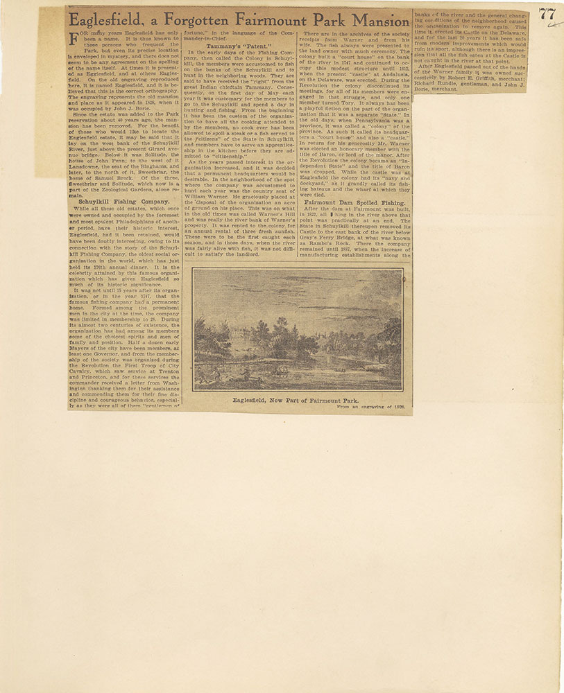 Castner Scrapbook v.27, Old Houses 4, page 77