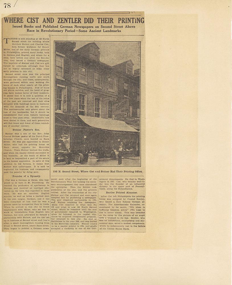 Castner Scrapbook v.27, Old Houses 4, page 78