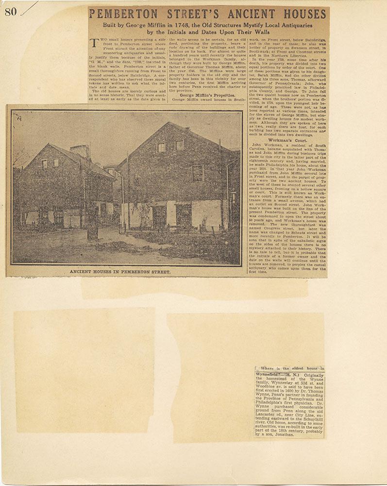 Castner Scrapbook v.27, Old Houses 4, page 80